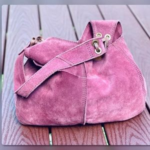 LUCKY BRAND SUEDE LEATHER HOBO BAG